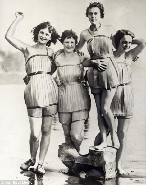 Wooden bathing suits