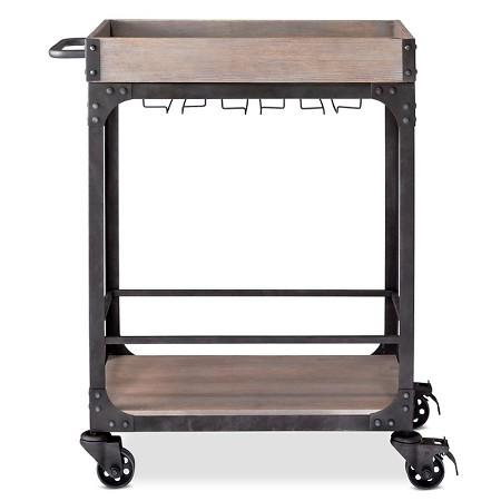 Franklin industrial bar cart