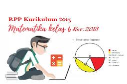 RPP Matematika Kelas 6 SD Kurukulum 2013 Revisi 2018