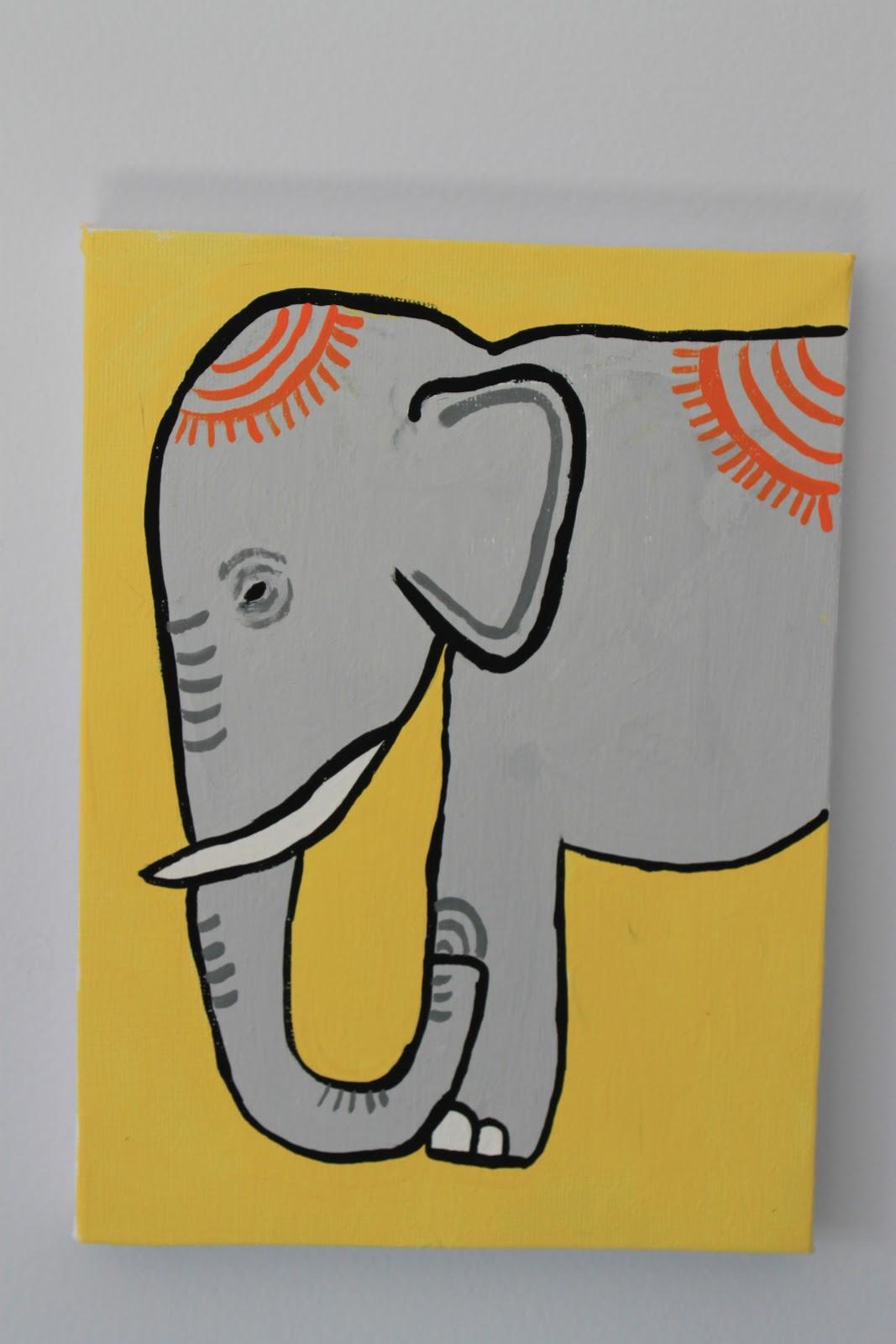 Montessori Beginnings Elephant Art For Baby Js Room