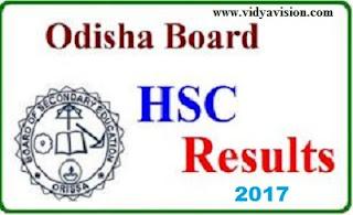 Odisha HSC Results 2017