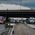 Tragedy Averted After Fuel Tanker Leaks At Ojota Under Bridge In Lagos. (SEEP PHOTOS)