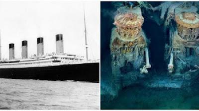 Sejarah Kapal Titanic  Asal mula Ide pembuatan kapal ini adalah untuk menyaingi keberadaan kapal Lusitania dan Mauretania yang dimiliki Cunard Line. White Star Line kemudian membuat kapal Titanic yang diharapkan menjadi kapal terbesar dan paling mewah. Pembangunan Titanic dilakukan di sebuah galangan kapal di Irlandia Utara. Pembuatan kapal ini dimulai selama 31 Maret 1909 hingga 31 Maret 1912 yang dibiayai oleh pengusaha asal Amerika, J.P. Morgan beserta perusahaan miliknya, International Mercantile Marine Co.   Spesifikasi Kapal Titanic  Panjang sekitar 269 m. dan lebar28 m.  Tinggi dari permukaan air ke geladak sekitar 18 m.  Berat mencapai 46.328 ton.   Menampung 3.500-an penumpang beserta awak kapal.   Mesin kapal terdiri atas :   Tiga baling-baling, dua mesin empat silinder, serta satu turbin Parsons yang memiliki tekanan rendah yang berfungsi untuk memutar ketiga baling-baling.Terdapat 29 ketel yang dipanaskan 159 perapian atau tungku batu bara yang dapat menghasilkan kecepatan hingga 23 knot. Terdapat empat cerobong kapal setinggi 19 meter, hanya tiga yang berfungsi. Cerobong keempat diapakai untuk lubang udara dan juga menunjukkan kemegahan kapal.  Kemegahan Kapal Titanic  Kemegahan dan fasilitas kapal Titanic tidak ada tandingannya pada masa itu. Di dalam kapal terdapat pemandian Turki, ruang olah raga, fasilitas kolam renang, gelanggang squas