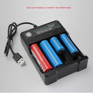 alimentatore caricatore per batterie litio 18650