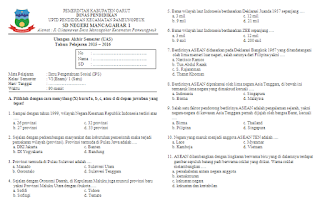 Soal UAS IPS KTSP Kelas 6 Semester 1
