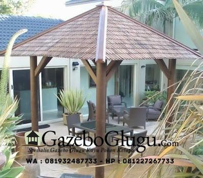 Gazebo Glugu Custome Desain