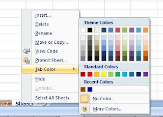 cara 2 memberi warna sheet