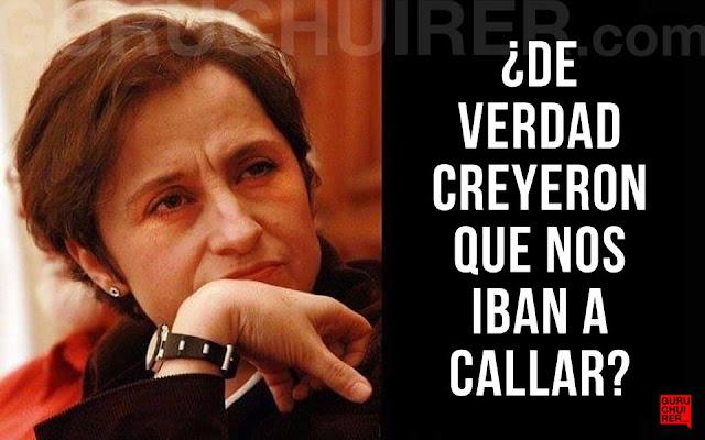 López Dóriga 'mató' a Aristegui en tuit y luego lo borró