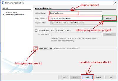 5 - Tutorial 1 Pemrograman Java Netbeans – Cara membuat Project Baru