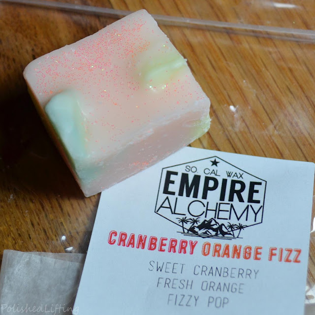 cranberry orange fizz wax melt
