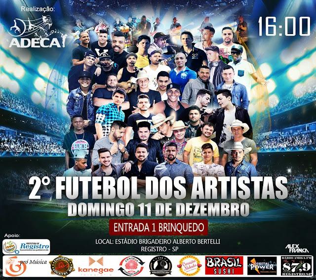 2º Futebol dos Artistas em Registro-SP