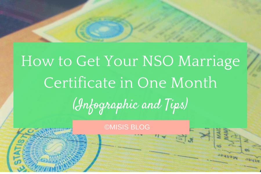 How To Get Your Nso Marriage Certificate In One Month Infographic