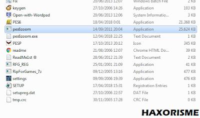 Ekstrak File PES 6 Zoom Pada Folder PES 6