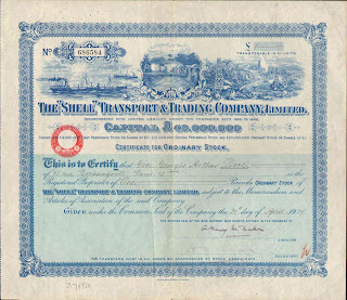 "The ""Shell"" Transport and Trading Company Limited stock certificate"