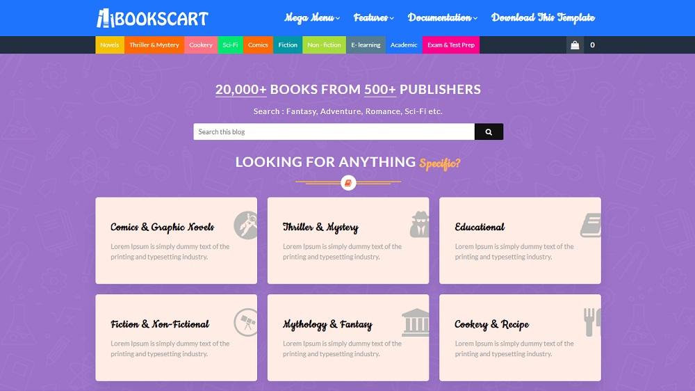 Books Cart - Responsive Blogger Template