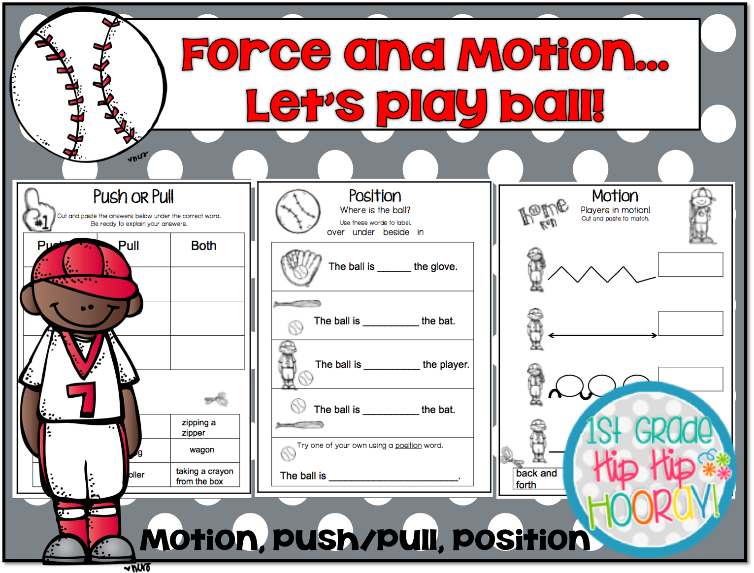 1st Grade Hip Hip Hooray Force And Motion Let S Play Ball