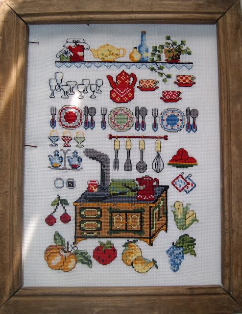 кухонная вышивка, набор для вышивания, кухня, вышивка крестиком, вышивка для кухни, семплер, кухонный семплер
