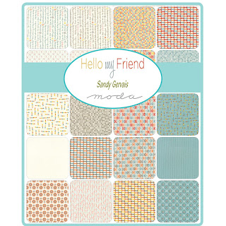 Hello My Friend Fabric by Sandy Gervais for Moda Fabrics