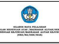 Unduh Silabus SMA/SMK/MA Kelas X XI XII KK 2013