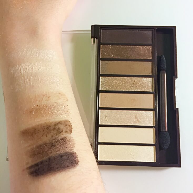 Covergirl trunaked Shadow Palette swatches