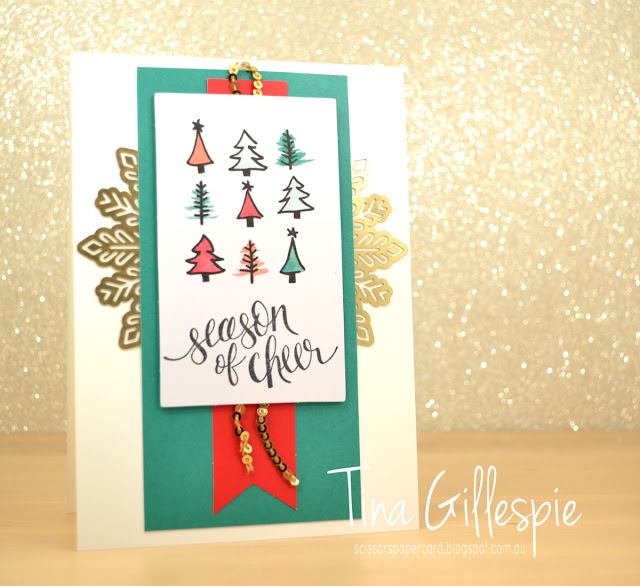 scissorspapercard, Stampin' Up!, Art With Heart, Watercolour Christmas Project Kit