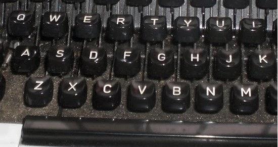 teclas de maquina escribir