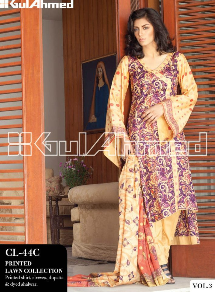 Gul Ahmed Ideas The Original Lawn Collection 2013 Vol-3