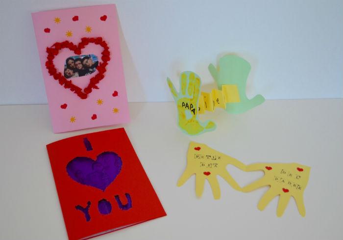 tarjetas hechas por los niños para el día del padre, manulalidad infantil