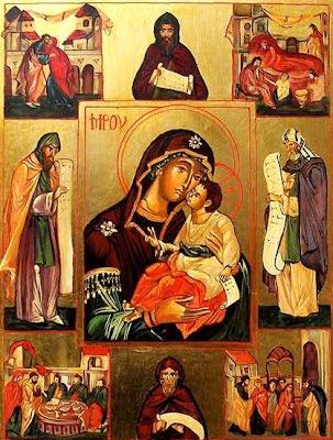 En la imagen, escenas de la vida de San Efren.