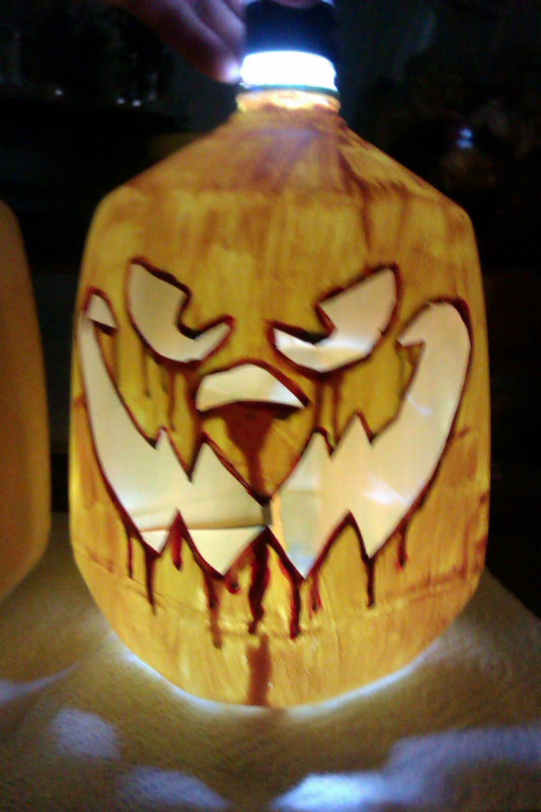 Milk Pumpkin Lights Jug