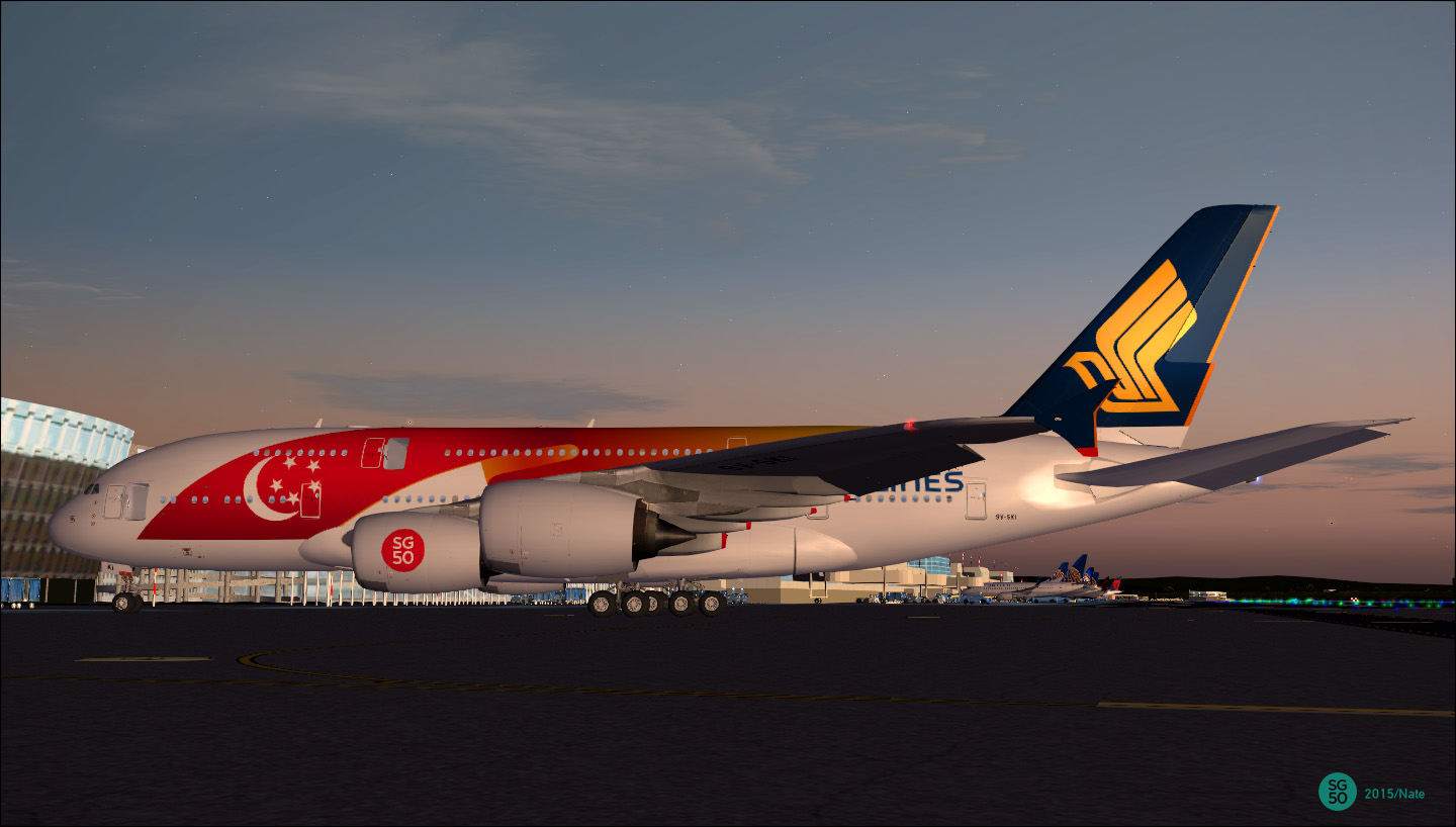 DOWNLOAD Airbus A380-800 VC Singapore Airline FSX & P3D