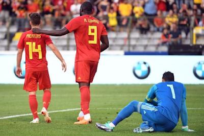بلجيكا تفوز 3-0 على مصر في مباراة ودية بغياب صلاح