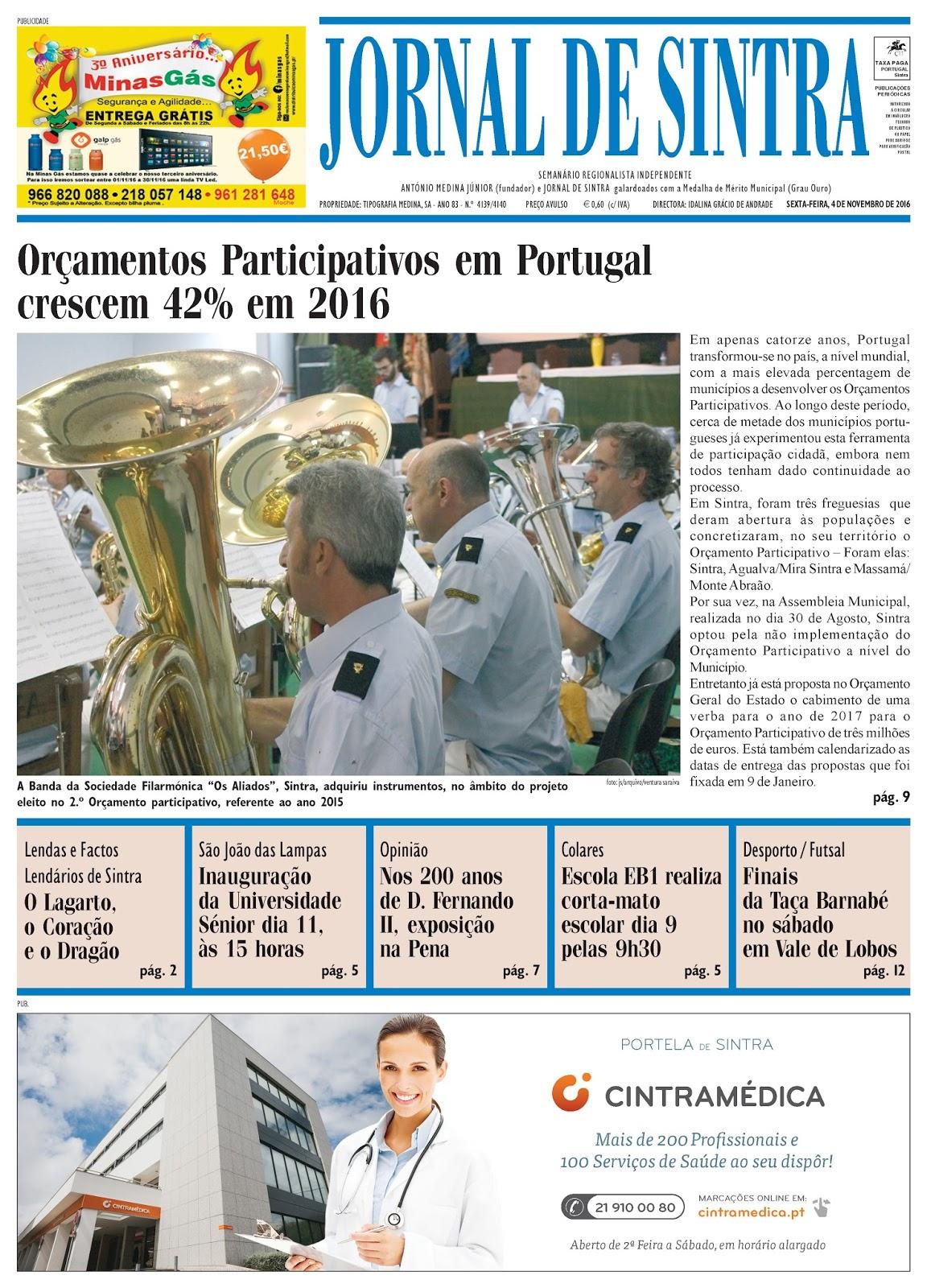 Capa da edição de 04-11-2016