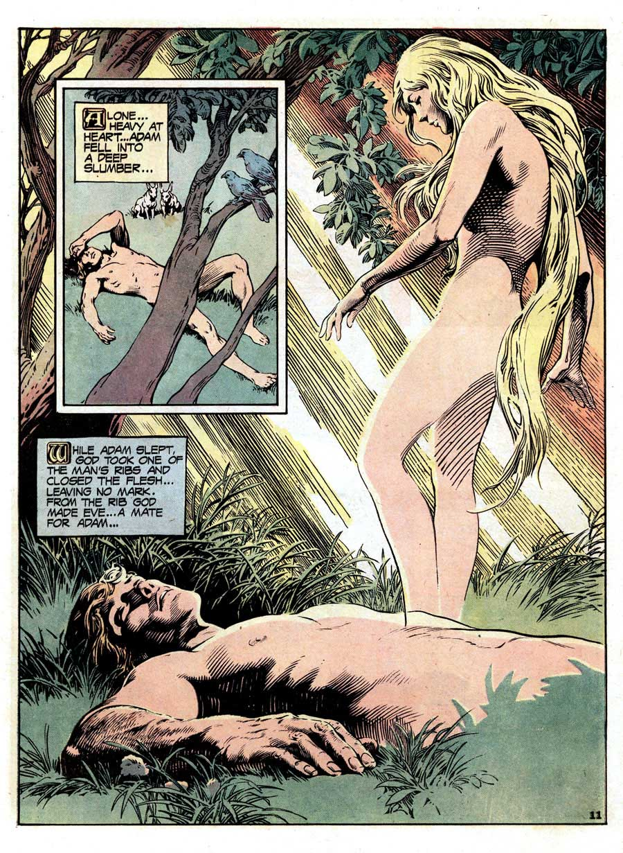 Limited Collectors Edition #C-36 / The Bible dc comic book page art by Nestor Redondo