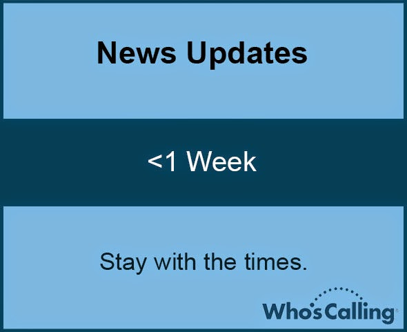 News Updates: <1 Week