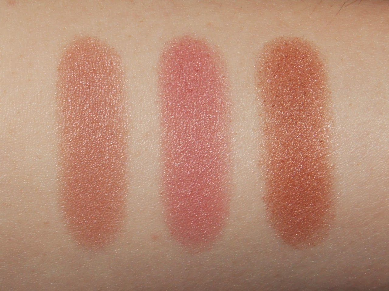 maxfactor creme puff blush swatches nude mauve seductive pink alluring rose