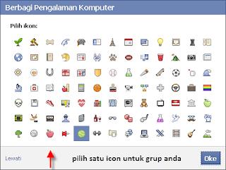 Pilih salah satu icon untuk grup Anda