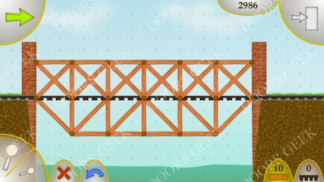 Wood Bridges Free Level 3 Solution (The Heavy Train)