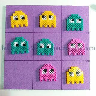 Tres-en-raya-imantado-triky-Elmo-PacMan-hama-beads