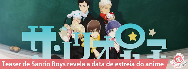 Teaser de Sanrio Boys revela a data de estreia do anime
