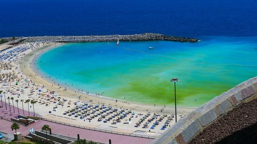 best beach winter season in canaries