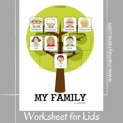WORKSHEET-FAMILY-TREE-KIDS-FREEBIE-IMPRIMIBLE-MAMAYNENE-INFANTIL-PREESCOLAR
