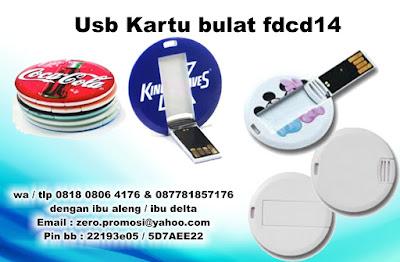 Usb Kartu bulat fdcd14, Usb flash disk mini bulat fdcd14, Flashdisk Kartu,  Usb Card bulat, USB mini round card,  Flashdisk bulat kecil, FDCD 14 Round Flashdrive Model kartu bulat, Flashdisk Kartu Bulat