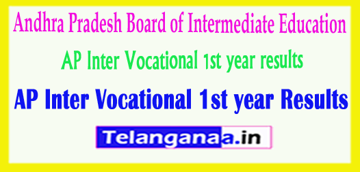 AP Inter Vocational 1st year Results 2018