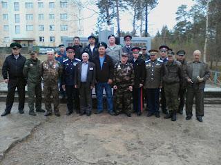 """9 мая 2016 казаки Нерюнгри с членами организации """"Боевое Братство"""""""