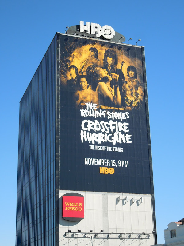 Rolling Stones Crossfire Hurricane giant HBO billboard