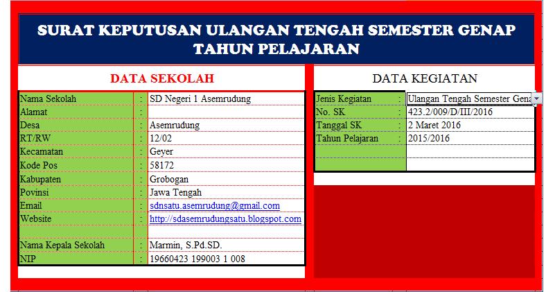 Aplikasi Cetak Surat Keputusan Sk Kegiatan Sekolah 1 Untuk 9 Sk Sd Negeri 1 Asemrudung
