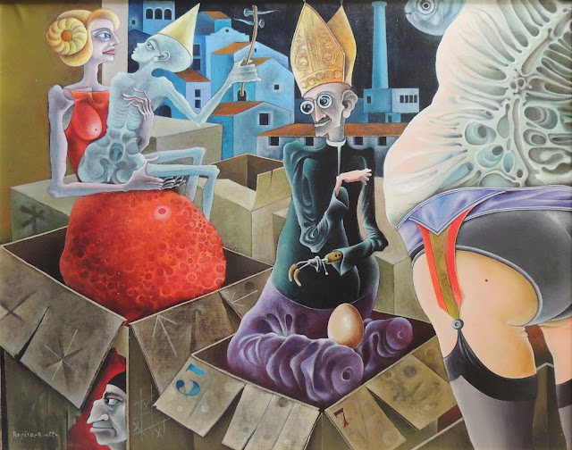 Rovira Brull pintura surrealista sátira España