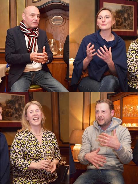 Die Winzer Dr. Rowald Hepp , Caroline Diel, Dorothee Zilliken und Kai Schätzel