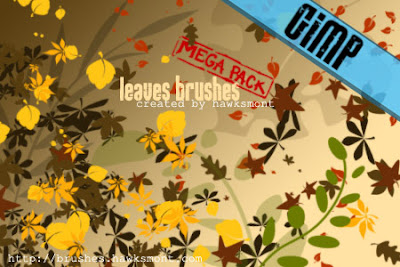 Gimp Brushes Leaves Mega Pack